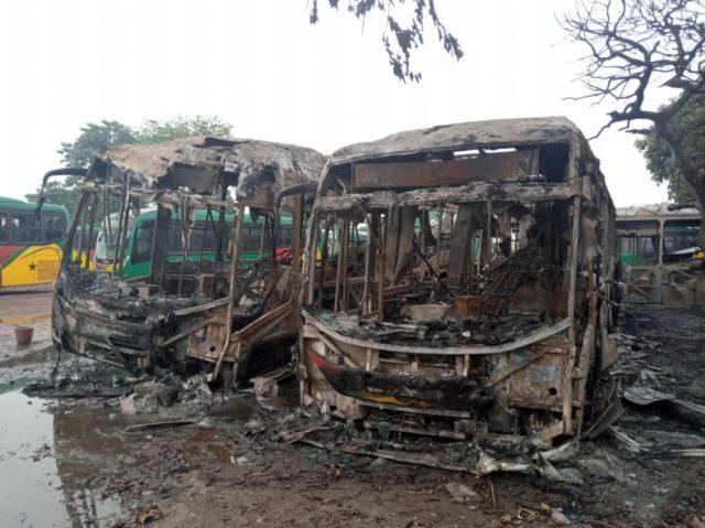 Fire guts 4 Aayalolo buses in Kumasi