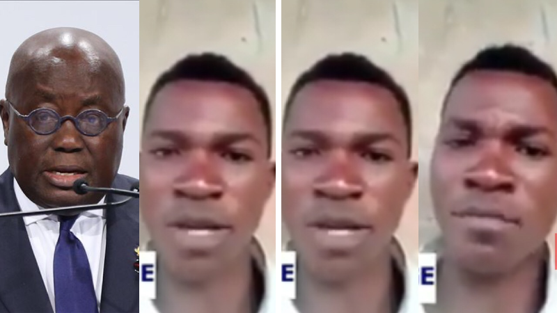Young man who hurled insults on Nana Akufo-Addo finally begs for forgiveness
