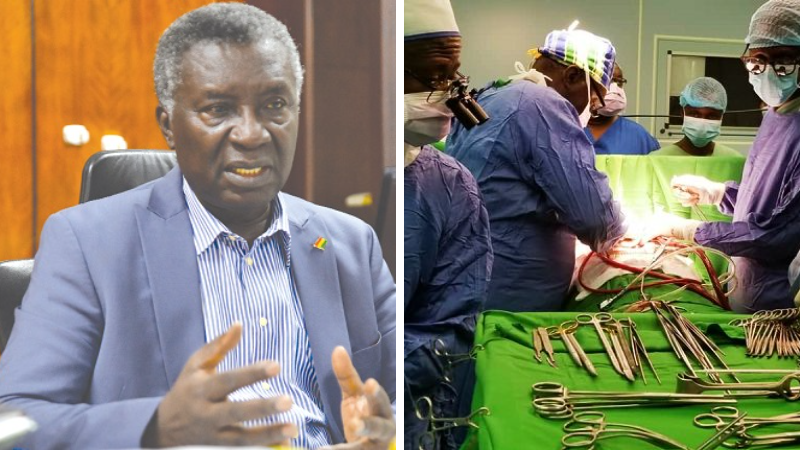 Prof. Frimpong Boateng still performs an open heart surgeries
