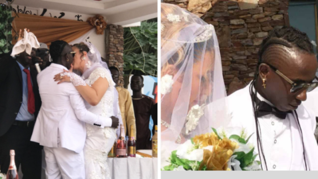 Patapaa finally marries his German girlfriend Liha Miller