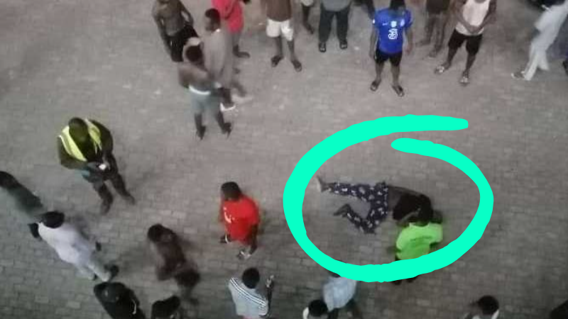 Service Personnel falls from 4th Floor