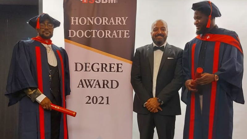 African Business Leaders Awarded Honorary Doctorate Degrees in Dubai, UAE